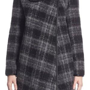 BETSEY JOHNSON Plaid Turnlock Coat